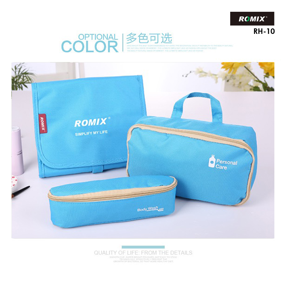 ROMIX RH10 | 3-in-1 Foldable Travel Wash Bag