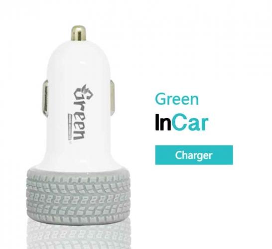 Green | 24W 2 USB Port 4.8A | Car Charger GR-CC-480