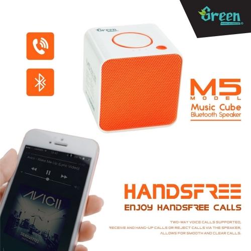 Green | Music Cube M5 | Bluetooth Speaker BT-SPK-GR-M5